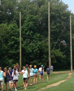 Camp Crosley YMCA Giant Swing