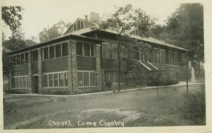 Camp Crosley Centennial Chapel with screened porches