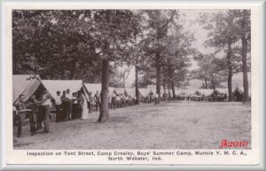 Camp Crosley tent inspection jpg