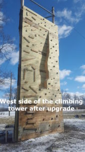 Camp Crosley Climbing Tower after its redo.