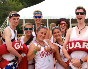 Camp Crosley YMCA lifeguards