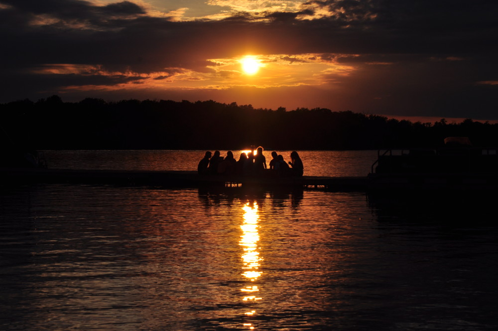Camp Crosley YMCA Sunset on Lake Little Tippecanoe (Little Tippy)
